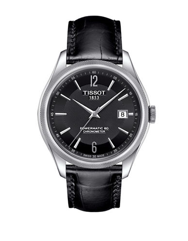 Tissot Analog Ballade Stainless Steel Leather Strap Watch-SILVER-One Size