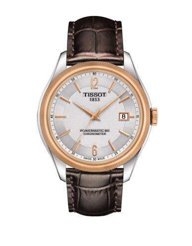 Tissot Analog Ballade Two-Tone Leather Strap Watch-ROSE GOLD-One Size