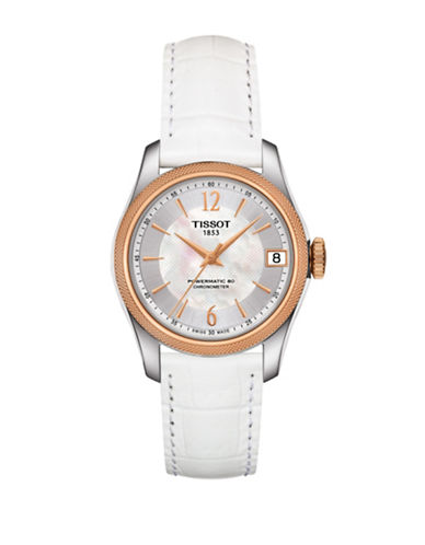 Tissot Analog Ballade Stainless Steel Leather Strap Watch-ROSE GOLD-One Size