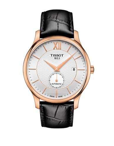 Tissot Analog Tradition Two-Tone Leather Strap Watch-ROSE GOLD-One Size