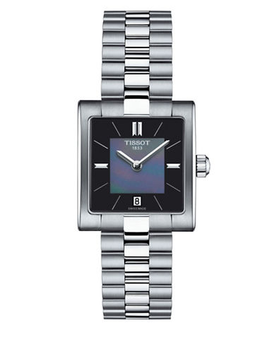 Tissot Analog T Stainless Steel Bracelet Watch-SILVER-One Size