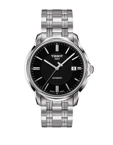 Tissot Analog Automatics III T Black Stainless Steel Bracelet Watch-BLACK-One Size