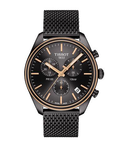 Tissot PR 100 Chronograph Black Watch-BLACK-One Size