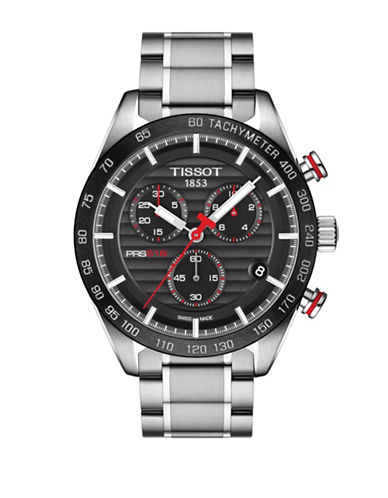Tissot Chronograph PRS 516 T Stainless Steel Bracelet Watch-BLACK-One Size