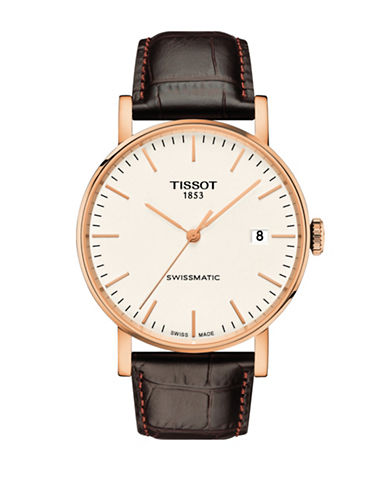 Tissot Everytime Swissmatic Black Watch-ROSE GOLD-One Size