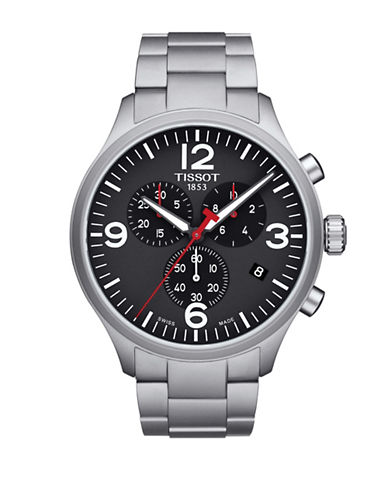 Tissot T Sport Chrono XL Stainless Steel Bracelet Watch-BLACK-One Size