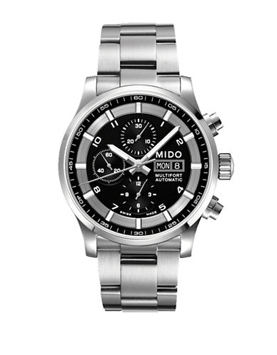Mido Multifort Automatic Chronograph Stainless Steel Watch-SILVER-One Size