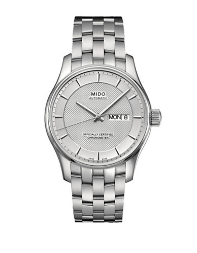 Mido Belluna Automatic Chronometer Stainless Steel Watch-SILVER-One Size