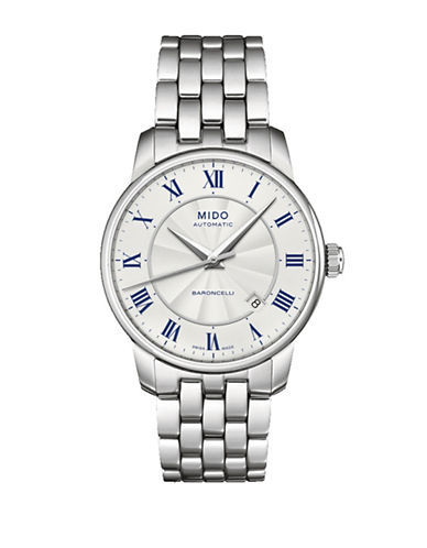 Mido Baroncelli Automatic Stainless Steel Watch-SILVER-One Size