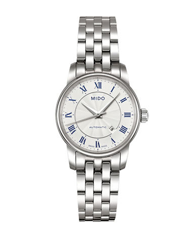 Mido Baroncelli Automatic Silvertone Watch-SILVER-One Size