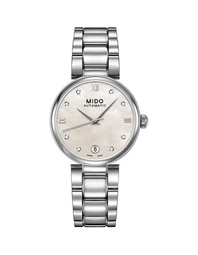 Mido Diamonds Baroncelli Automatic Diamond Watch-WHITE-One Size
