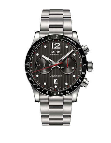 Mido Multifort Automatic Chronograph Stainless Steel Watch-GREY-One Size