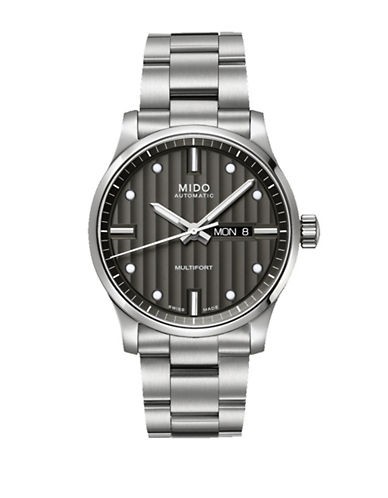 Mido Multifort Automatic Stainless Steel Watch-SILVER-One Size