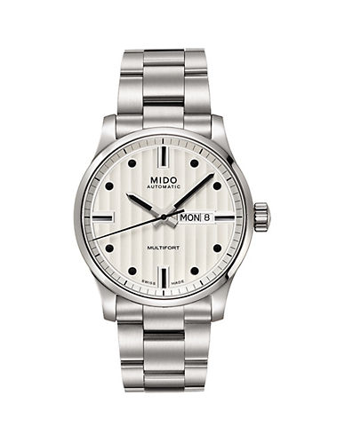 Mido Multifort Silvertone Bracelet Watch-SILVER-One Size
