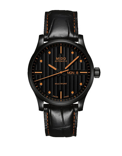 Mido Analog Multifort Leather Watch-BLACK-One Size