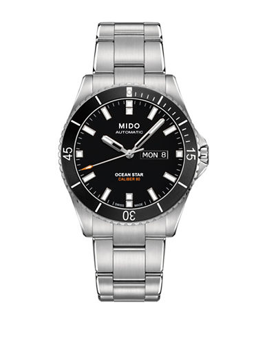 Mido Ocean Star Automatic Stainless Steel Watch-BLACK-One Size
