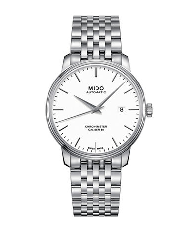 Mido Baroncelli Automatic Chronometer Watch-WHITE-One Size