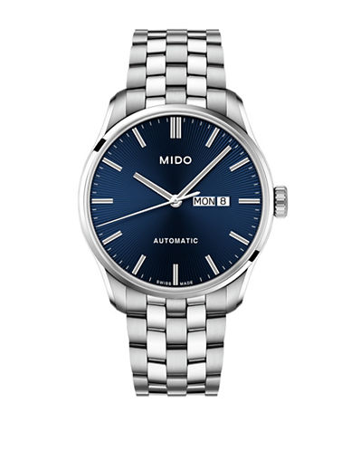 Mido Belluna Automatic Stainless Steel Watch-BLUE-One Size