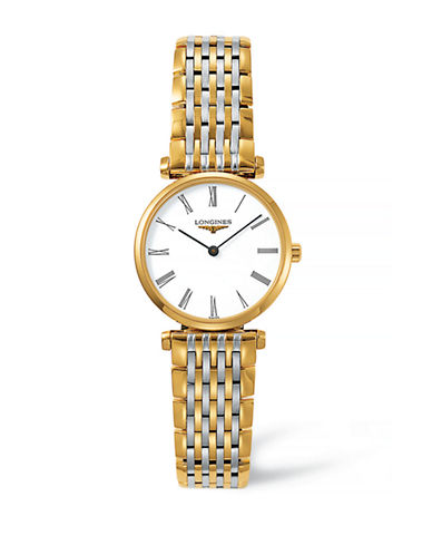 Longines Analog Stainless Steel Watch-TWO TONE-One Size