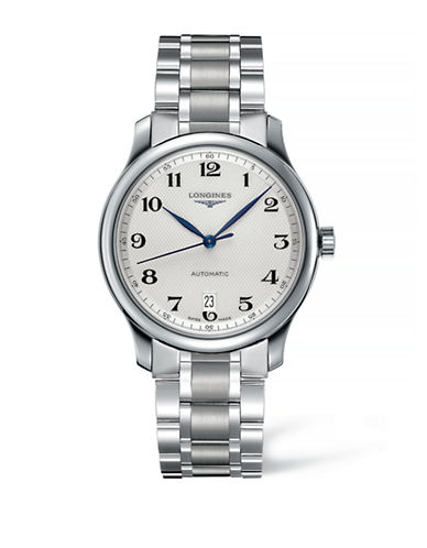 Longines Analog Stainless Steel Watch-SILVER-One Size