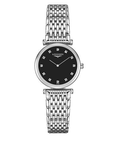 Longines La Grande Classique de Longines Diamond Stainless Steel Link Bracelet Watch-BLACK-One Size