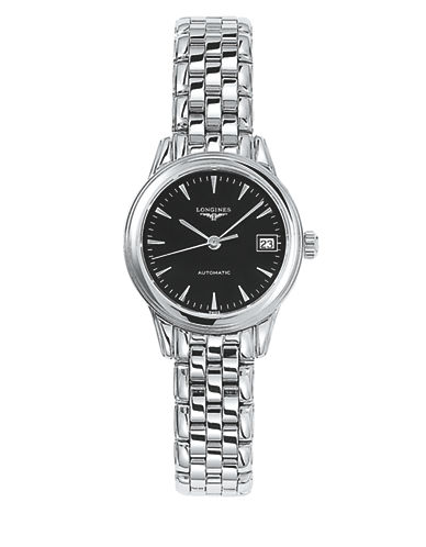 Longines Flagship Stainless Steel Link Bracelet Watch-BLACK-One Size