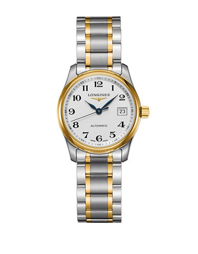 Longines Master Collection 18K Gold & Stainless Steel Bracelet Watch-WHITE-One Size