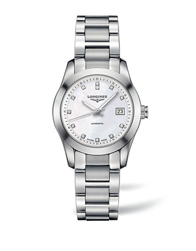 Longines Analog Conquest Classic Stainless Steel Watch-SILVER-One Size