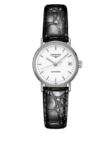 Longines Presence Stainless Steel & Leather Strap Bracelet-WHITE-One Size