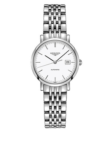 Longines The Longines Elegant Stainless Steel Bracelet Watch-WHITE-One Size