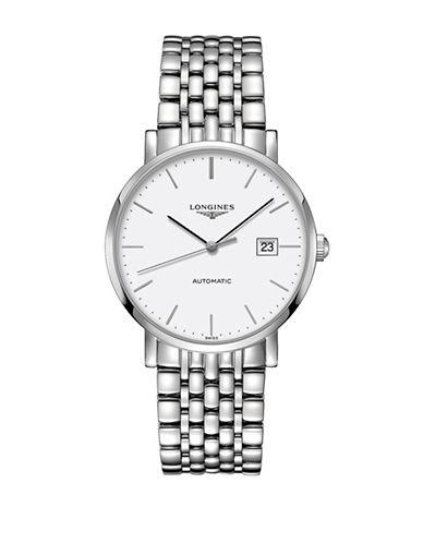 Longines The Longines Elegant Stainless Steel Bracelet Watch-WHITE-One Size