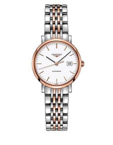 Longines The Longines Elegant 18k Rose Gold & Stainless Steel Bracelet Watch-WHITE-One Size