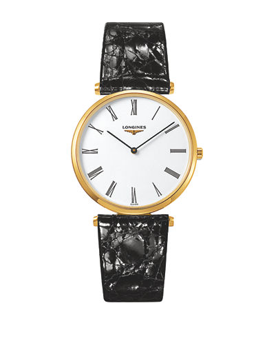 Longines La Grande Classique de Longines Goldtone Stainless Steel Alligator Leather Strap-WHITE-One Size