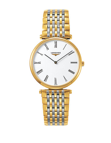 Longines La Grande Classique de Longines Two-Tone Stainless Steel Link Bracelet Watch-WHITE-One Size