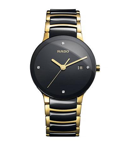 Rado Mens Quartz Centrix  R30929712 Watch-BLACK/GOLD-One Size