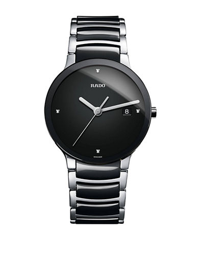 Rado Mens Quartz Centrix  R30934712 Watch-BLACK/SILVER-One Size
