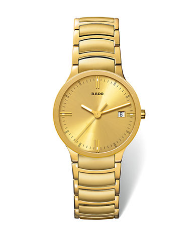 Rado Unisex Quartz Centrix  R30527253 Watch-YELLOW GOLD-One Size