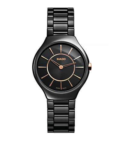 Rado Womens Quartz True Thinline R27742152 Watch-BLACK-One Size