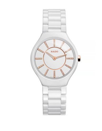 Rado Womens Quartz True Thinline R27958702 Watch-WHITE-One Size
