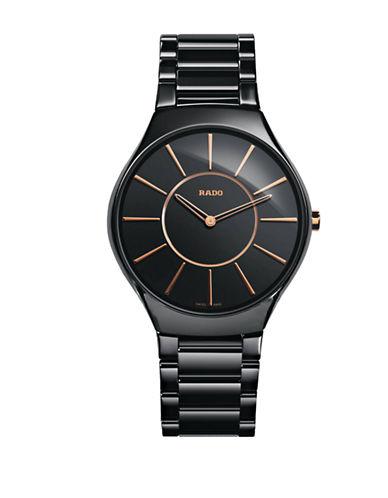 Rado Unisex Quartz True Thinline R27741152 Watch-BLACK-One Size
