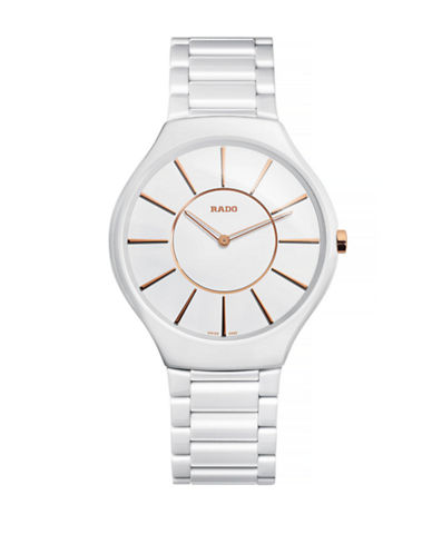 Rado Womens Quartz True Thinline R27957102 Watch-WHITE-One Size