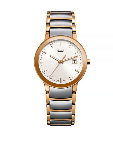 Rado Womens Analog Centrix Two-Tone Bracelet Watch-TWO TONE-One Size