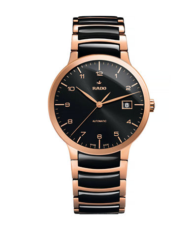 Rado Mens Automatic Centrix  R30953152 Watch-BLACK/ROSE GOLD-One Size