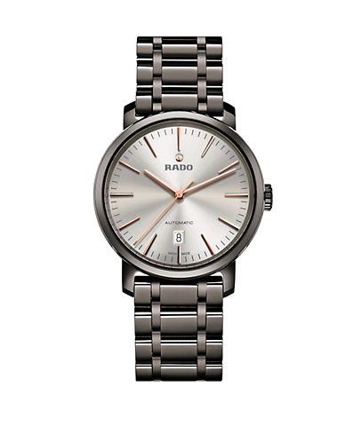 Rado Mens Automatic Diamaster R14074102 Watch-GUNMETAL-One Size