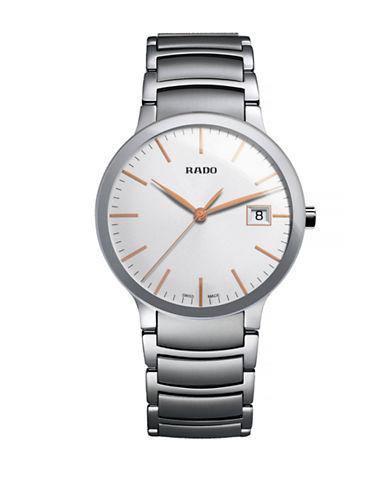 Rado Mens Quartz Centrix  R30927123 Watch-SILVER-One Size