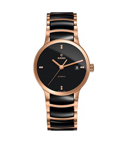 Rado Unisex Automatic Centrix  R30036712 Watch-BLACK/ROSE GOLD-One Size