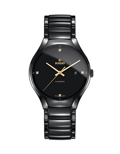 Rado True Automatic Ceramic Watch-BLACK-One Size