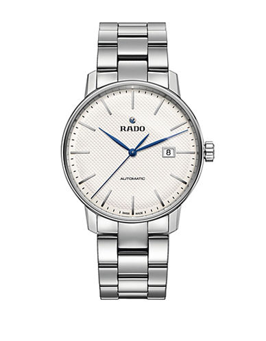 Rado Automatic Coupole Classic Stainless Steel Bracelet Watch-SILVER-One Size