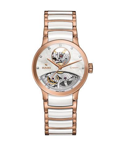 Rado Analog Centrix  0.010 TCW Diamond Two-Tone Bracelet Watch-TWO TONE-One Size
