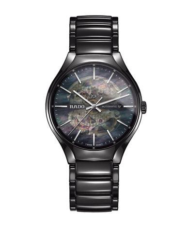 Rado Automatic True Ceramic Bracelet Watch-BLACK-One Size